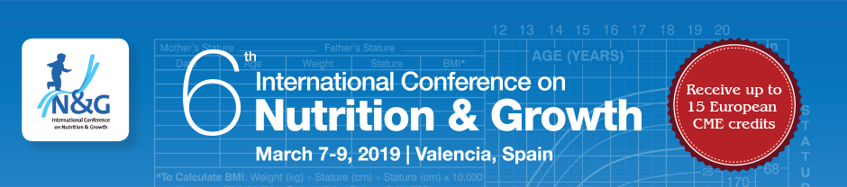 Nutrition and Growth Conference 2019, Valencia